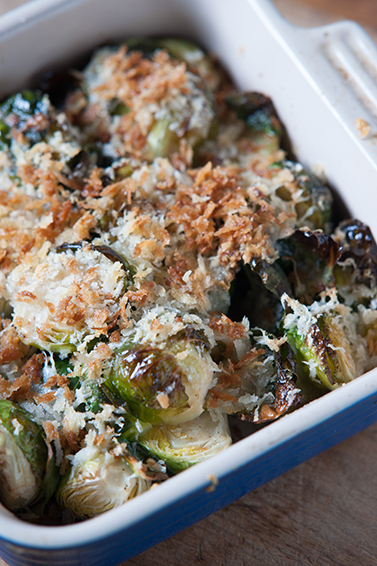 Almond Flour Crusted Brussels Sprouts