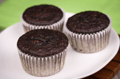 Flourless Chocolate Oat Muffins